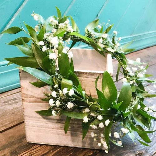 Simple Flower Crown Design #greenery