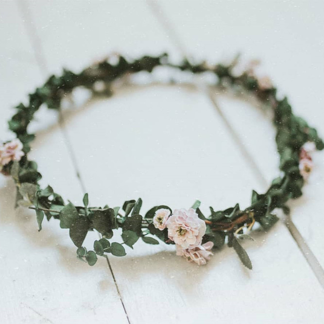 Soft Flower Crown For Girls #greenerycrown