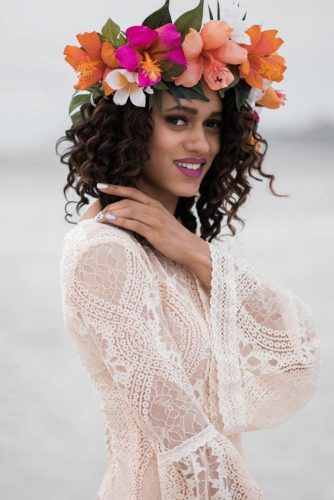 Tropical Flower Crown Design For Summer Queen #tropicalcrown