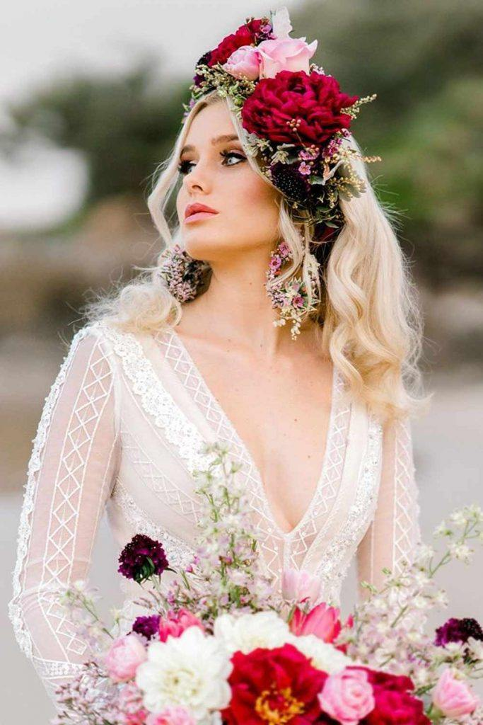 Lovely Wedding Flower Crown For Beautiful Brides