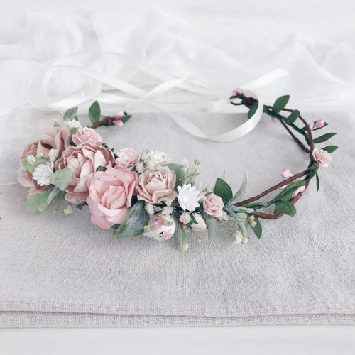 Minimalistic Flower Crown Design #romanticcrown