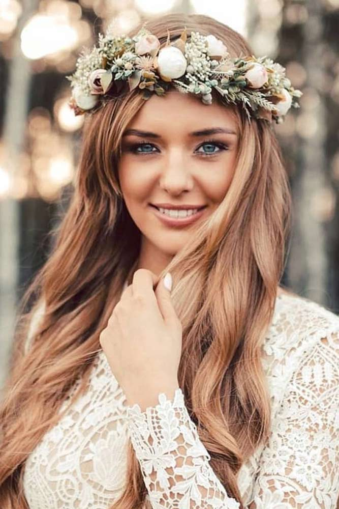 Wedding Flower Crown For Beautiful Brides #bride #flowerheadpiece