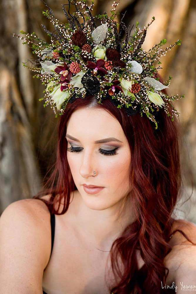 Wild Flowers Crown Design #wildflowers