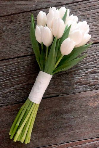 Gentle White Tulips #springflowers #tulips #whiteflowersbouquet