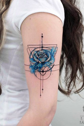 There's Fantasy Trapped Inside This Body #armtattoo #rosetattoo #bluerose #flowertattoo