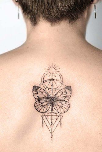 Butterfly Under The Sun #butterflytattoo #backtattoo
