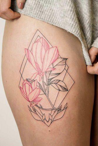 Flawless Abstract Lilies Tattoo #flowertattoo