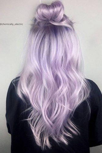 Amazing Lavender Color For Your Hair #halfup #hairstyle
