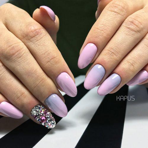Lavender Ombre Nails Design #ombrenails