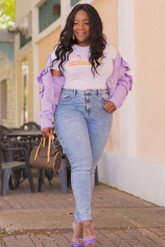 Lavender Accents In Your Style #plussize