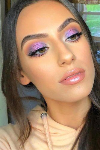 Bold Eyes With Natural Lips Makeup Idea #lipgloss