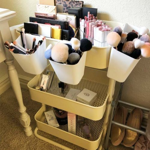 Cheap Way To Organize Your Beauty Items #cheapstorage