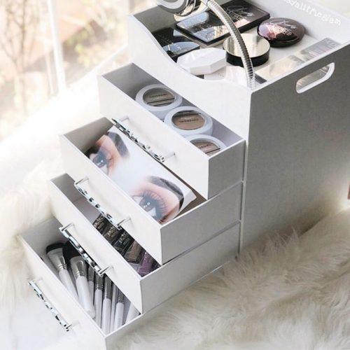 Drawers Makeup Organizer #drawersorganizer