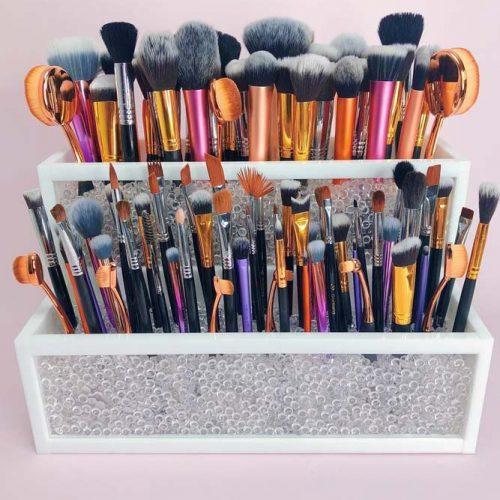 Makeup Organizer For Your Brushes #brushholder