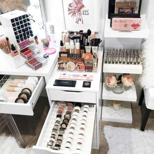 Large Makeup Storage #largemakeupstorage