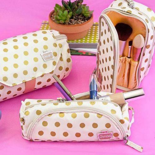 Cute Polka Dots Makeup Bag Design #makeupbag
