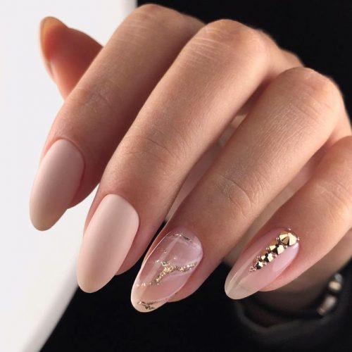 Timeless Classics Oval Nails #ovalnails #longnails #marblenails #nudenails #mattenails