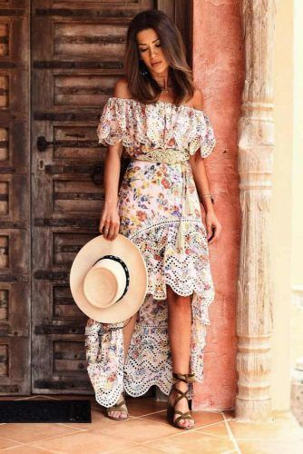 Floral Asymmetric Dress For Boho Style #floraldress