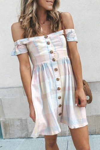 Off The Shoulder Dress For The Summertime #summerdress