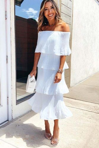 White Off The SHoulder Dress #whitedress