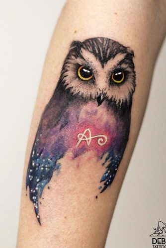 Owl Tattoo Idea For Hand #galaxytattoo