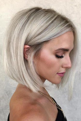 Blunt Shoulder Length Bob #bob #straighthair