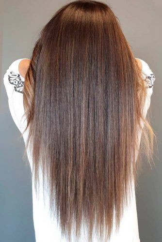 Long Hair With A Brown Color #brownhair #layeredhair