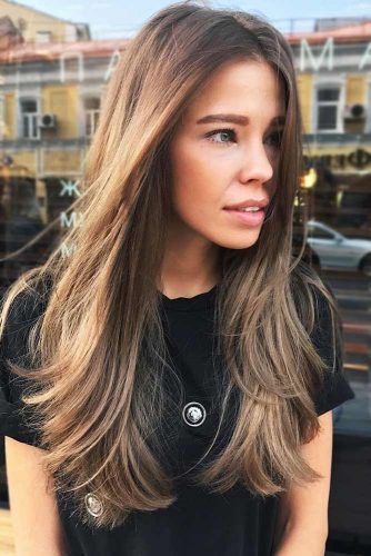 Face Framing Long Straight Layers #lognhair #layeredhair #straighthair