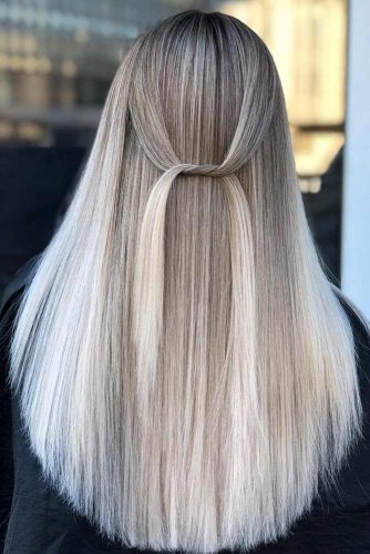 Long Straight Hair With Balayage #balayagehair