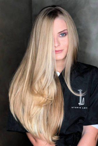 Blonde Straight Hair Style #longhair #sidebanghair