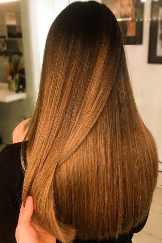 Long Hair With A Brown Color #brownhair #balayagehair