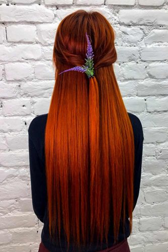Beautiful Red Hair Color For Long Straight Hair #redhair