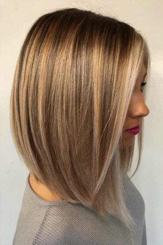 A-Line Bob Haircut With Straight Hair #balayagehair #alinebob