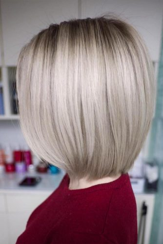 Blonde Long Bob Hair Style #blondebob #straightbob