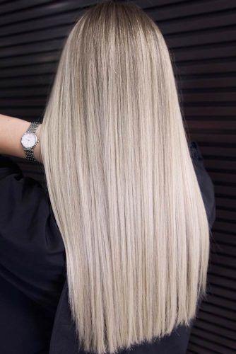 Long Platinum Blonde Hair Style #lognhair #straighthair