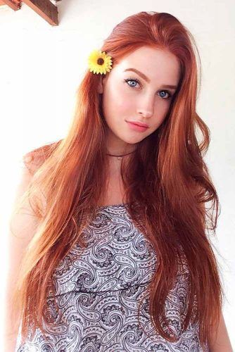 Beautiful Red Hair Color For Long Straight Hair #redhair #longhair