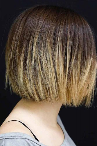Short Bob Hairstyle With Ombre #shortbob #ombrehair