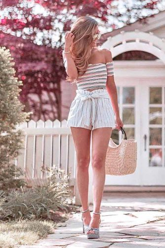 Linen High Waist Shorts #linenoutfit #highwaistshorts