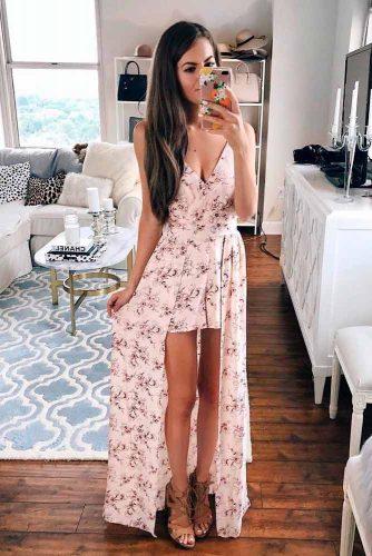 Floral Dress With Long Skirt Piece #summerdress #longdress