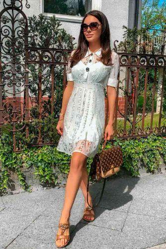 Elegant Casual White Dress #casualdress #whitedress