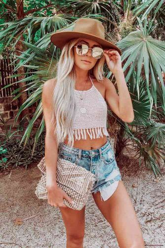 White Crocheted Top #crochetedtop #casualoutfit