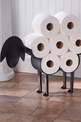 Creative Toilet Paper Holder #creativehomedecor #bathroomdecorations