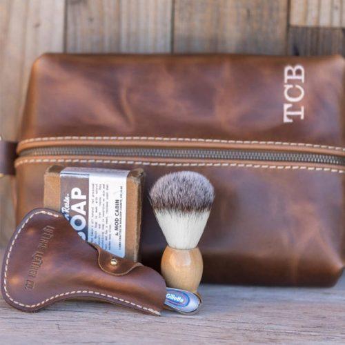 Leather Custom Dopp Kit/Toiletry Bag #leatherdopp #bag