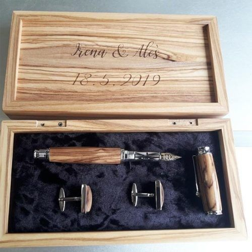 Personalized Pen And Cufflinks Gift Idea #pen #giftbox