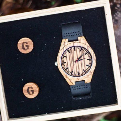 Cufflinks And Personalized Watch Set #giftset #watch