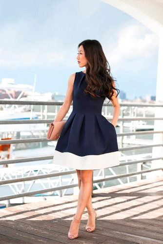 Deep Blue Bouffant #bluedress #bouffantdress