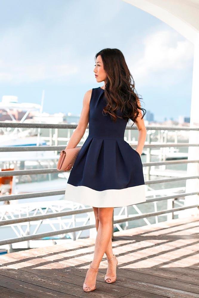 Deep Blue Bouffant #bluedress #bouffantdress