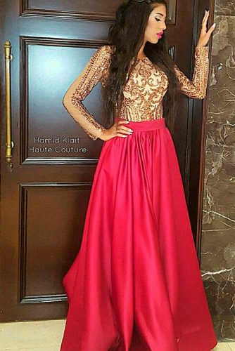 Gorgeous Of Burgundy And Gold Sequins #formaldress