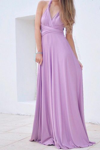 Maxi Dress In Soft Lilac Shades #maxidress