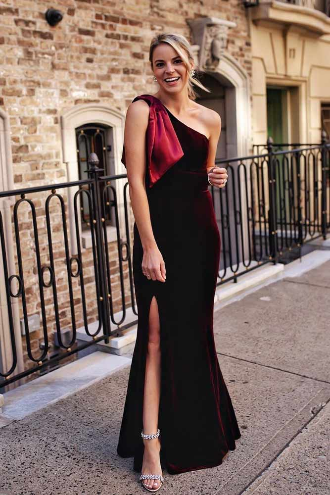 Deep Burgundy Tight Dress #burgundydress #longdress